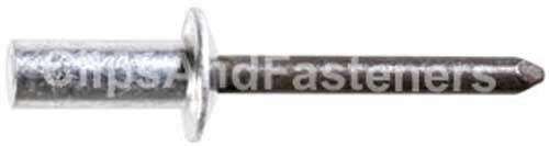 Steel Mandrel Clipsandfasteners Inc 25 1//4 Closed End Rivets Aluminum Rivet