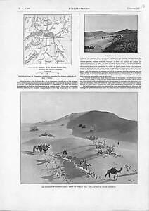 Mission-Foureau-Lamy-SAHARA-Grand-Erg-Timassinine-Dust-storm-ANTIQUE-PRINT-1900