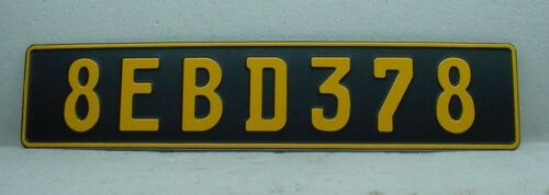 California matte black VW bmw mercedes volvo european license plate euro size