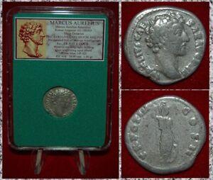 Ancient-Roman-Empire-Coin-MARCUS-AURELIUS-Minerva-On-Reverse-Silver-Denarius