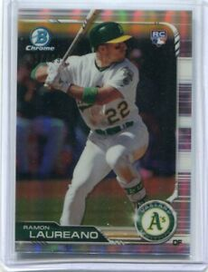RAMON LAUREANO 2019 Bowman Chrome REFRACTOR RC #/499 - Oakland A's