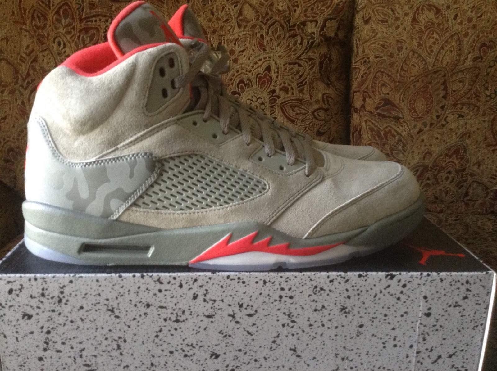 Nike air jordan 5 'buio stucco mimetico 136027-051 taglia 14