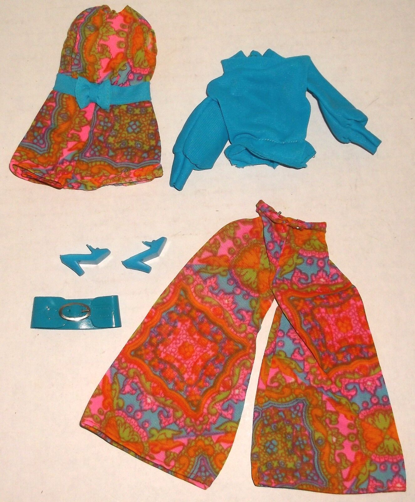 Barbie Vintage humor matchers Outfit Completo Exc Cond Inc Cinturón Y Zapatos