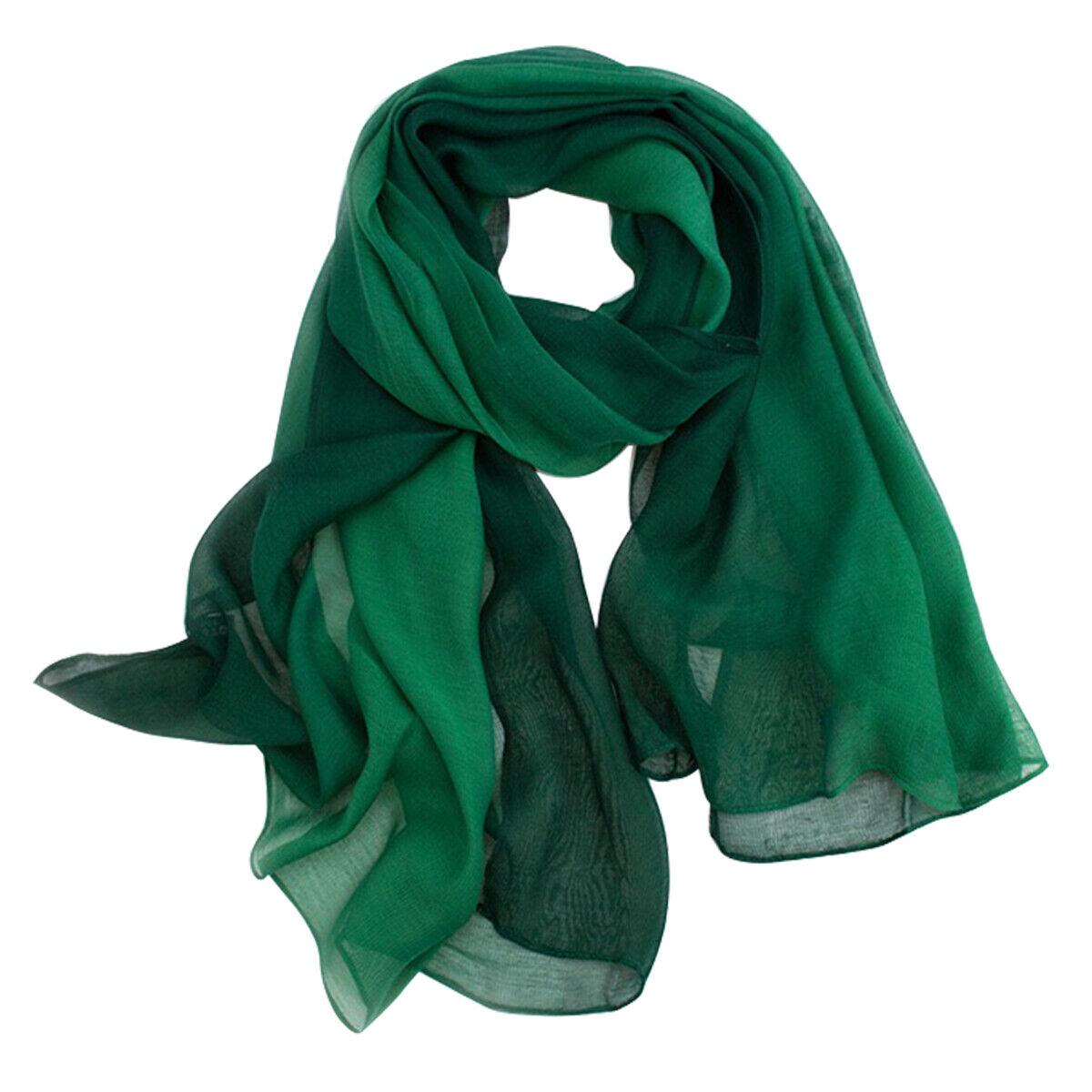 Bufanda Seiden modal verde 80 x 190cm degradado en pastellfarbe fibra natural grande pañuelo