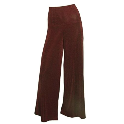 SLINKY Hose Lagenlook Damen Slinkyhose im Marlenelook EXTRA LANG NEU maroon-rot