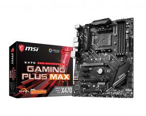 MSI X470 GAMING PLUS MAX Socket AM4 AMD Motherboard ATX, 4xDIMM, M.2,