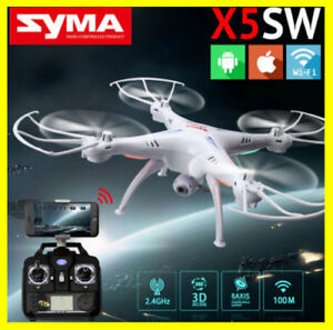 Syma-X5SW-Wifi-FPV-2-4G-RC-6-Axis-Quadcopter-Drone-2MP-Camera-HD-Charger-New