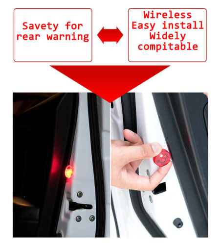 2pcs Universal Car Door Opened Warning Light Wireless anti-collid Flash Light