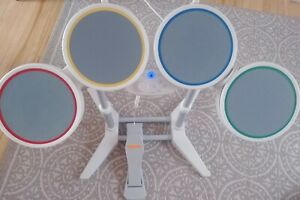 Rockband-Harmonix-Nintendo-Wii-Wired-Drum-Set-With-Pedal-Tested-Rare