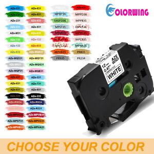 2x Premium kompatible Schriftbänder für Brother TZE535 Weiß auf Blau 12mm Easy