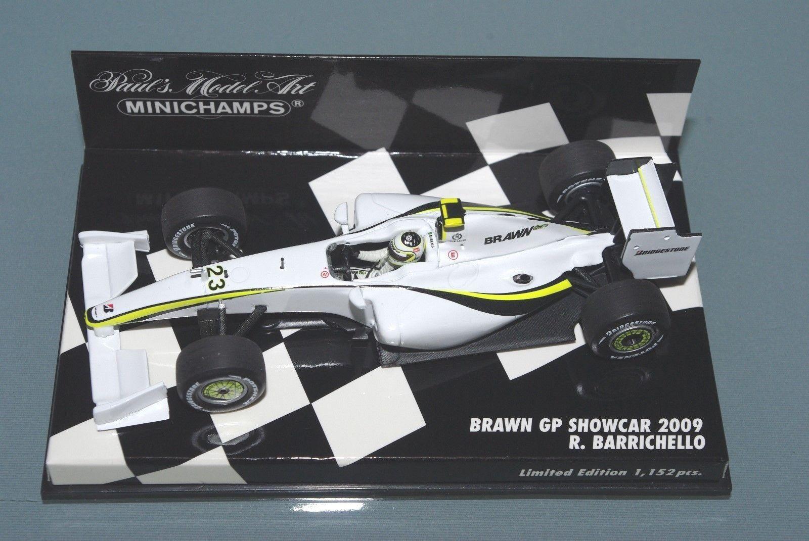 Minichamps F1 1 43 BRAWN GP SHOWCAR BARRICHELLO 2009 Limited Edition 1152pcs