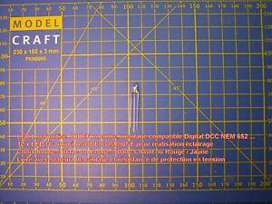 10 LED bi-color 2 mm 3 pattes Cathode Commune Analogique 20 Résistances HO