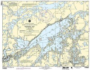 NOAA Chart Saganaga Lake 9th Edition 14985
