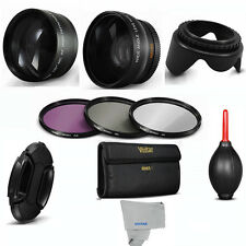 55MM Wide Angle & Telephoto Lens + Accessories for SONY ALPHA A6300 DSLR