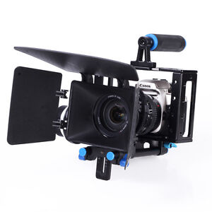 Camera-Cage-Rig-Follow-Focus-Matte-Box-Video-Movie-Kits-For-DSLR-DV-Video-Camera