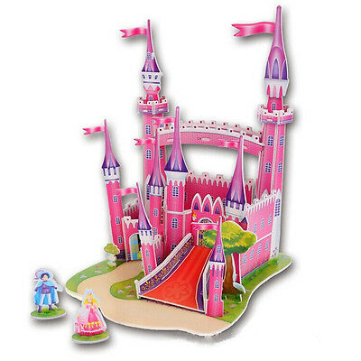 Cute Educational 3D Model Castle Puzzle Jigsaw Children Kids Toy Gift