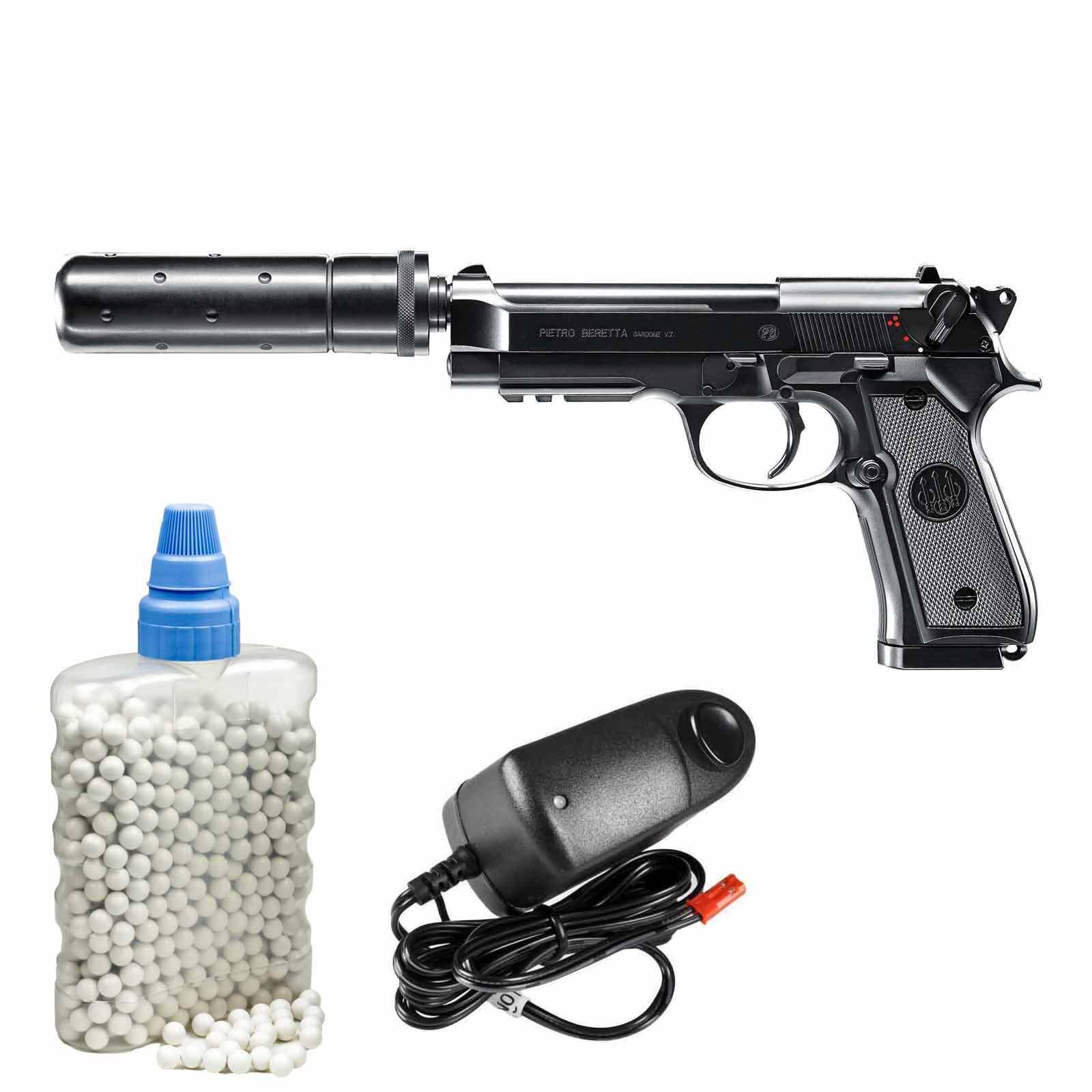 Beretta M92 A1 Tactical Schwarz AEP Softair-Pistole Softair-Pistole Softair-Pistole 6 mm BB <0,5 Joule (P14) 944223