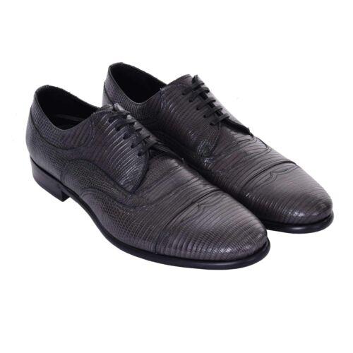 Business Leather Warane Dolce Gris Lizard 08021 Zapatos Zapatos Gabbana Derby qwXB6w