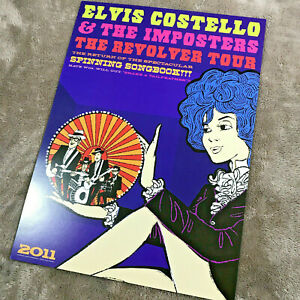 Elvis-Costello-amp-The-Imposters-Print-Poster-Litho-Revolver-Tour-2011