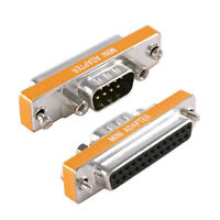 Rs232 Serial Db9 Male To Db25 Female Mini Adapter Converter Connector
