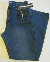 Adolfo Stretch Women's Blue Cotton Blend Jeans Size 16