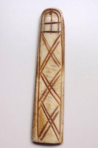 Katzenzunge Beige Kettenanhänger aus Knochen mit 1 Loch ca 7,0 x 1,5 cm