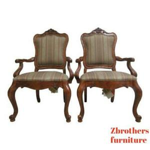 Ethan-Allen-Tuscany-French-Carved-Dining-Room-Arm-Chairs
