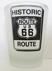 HISTORIC-ROUTE-66-HISTORIC-SIGN-FROSTED-GLASS-SHORT-SHOT-GLASS