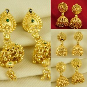 0b9f0ecc0 Image is loading Hollywood-Designer-Gold-Plated-Earring -Traditional-Ethnic-Jhumka-