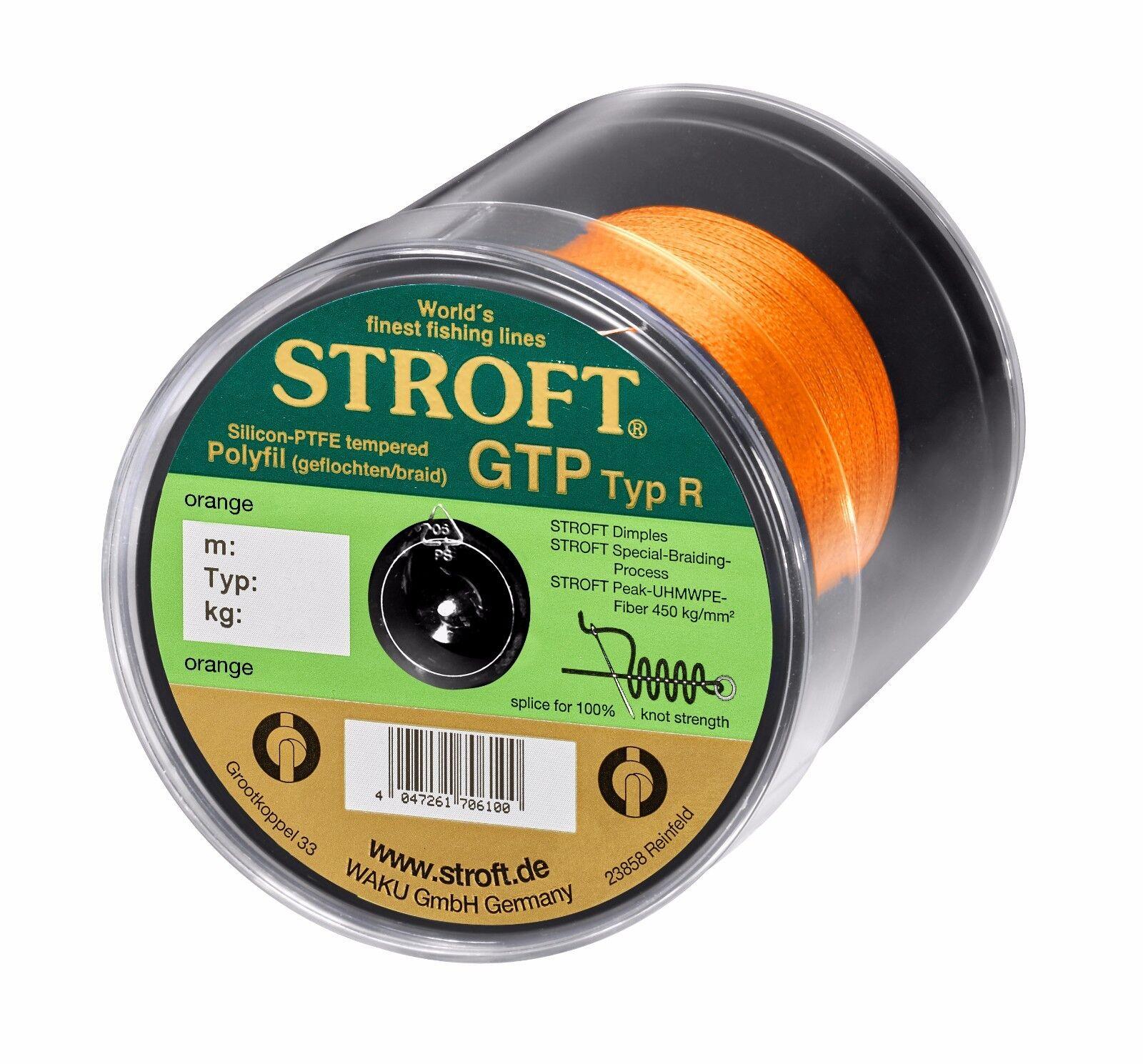 Angelschnur STROFT GTP Typ R Orange 100m 250m 500m 1000m 1000m 1000m Geflochtene Schnur f6bf88
