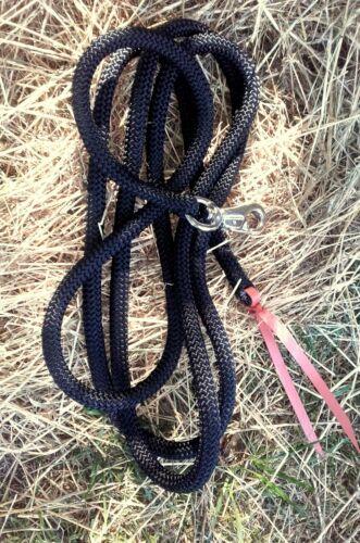 3,70 m oder 7 m  *NEU* Bodenarbeitsseil Schwarz Rope Bullsnap Westernrope