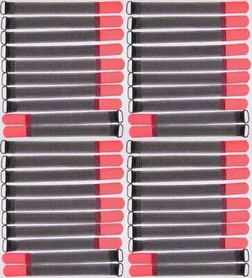 40 X Nastro Di Velcro Fascette Per Cavi Fk 20 Cm X 20 Mm Rosso Neon Velcro Nastri Cavo Nastro Di Velcro-mostra Il Titolo Originale