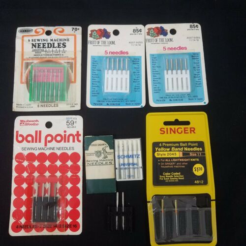 Sewing Machine Needles Vintage Lot Penn Woolco Schmetz Cold Drawn Fruit Of Loom