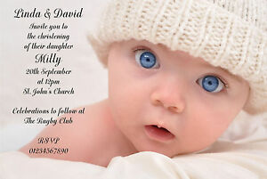 40 personalised christening baptism 1st birthday naming invitations image is loading 40 personalised christening baptism 1st birthday naming invitations stopboris Image collections