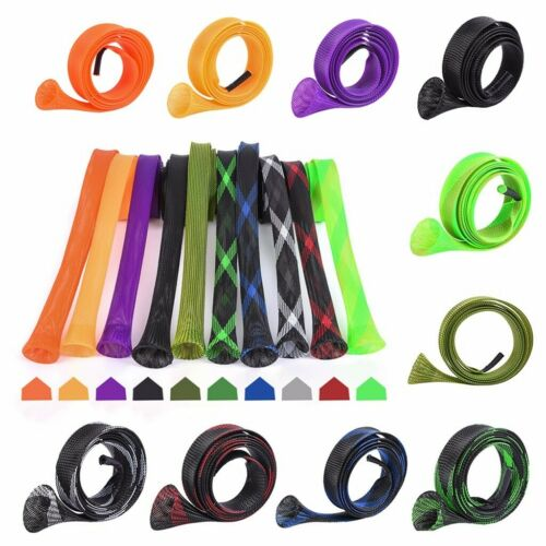 5//10Pcs Rod Sock Fishing Sleeve Covers Braided Mesh Protector Pole Gloves Tools