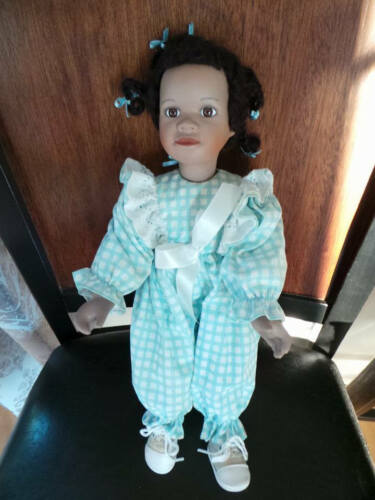 Susan E Raey African American Porcelain Doll Collectible Dolls