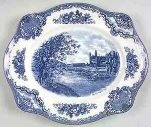 Johnson-Bros-OLD-BRITAIN-CASTLES-BLUE-11-3-4-034-Platter-Imperfect-7660789