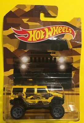 Contemporary Manufacture Diecast & Toy Vehicles Hot Wheels 2016 Yellow Camouflage Hummer H2 Truck 1/8 Diecast Car Toy Gift