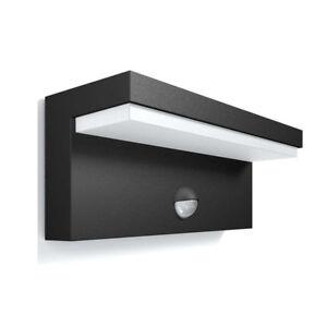 philips mygarden led au enwandleuchte bustan in anthrazit mit bewegungsmelder ebay. Black Bedroom Furniture Sets. Home Design Ideas
