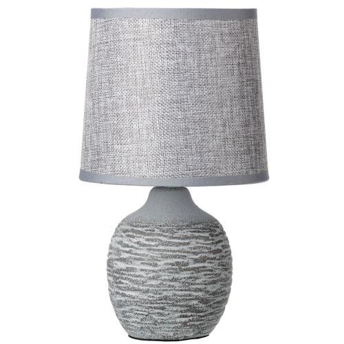Keramik Tischlampe Tischleuchte Nachtischlampe Steinoptik  grau E 14
