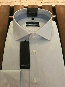 Cotton Medium Regular Fit Seidensticker Shirt BNWT Navy Design 15 3//4