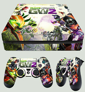 Ps4 Slim Plants Vs Zombies Garden Warfare 2 Sticker Skin 2 X Pad Decals Ebay