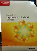 Microsoft Expression Studio 4 Ultimate--for Academic Use--new Sealed Box