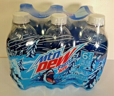 6 Pack MOUNTAIN DEW Frostbite 2020 Limited Edition 16 OZ