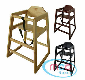 Stackable-Wooden-Baby-Feeding-Highchair-High-Chair-home-amp-commercial-restaurants