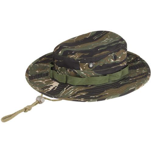 VIETNAM ARMY STYLE BOONIE BUSH CAMOUFLAGE JUNGLE SUN HAT CAP TIGER STRIPE CAMO