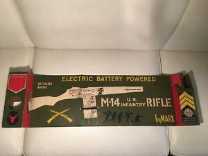 Marx US Army M14 Rifle Battery Operated Plastic Vintage display BOX scatola only - Italia - Marx US Army M14 Rifle Battery Operated Plastic Vintage display BOX scatola only - Italia