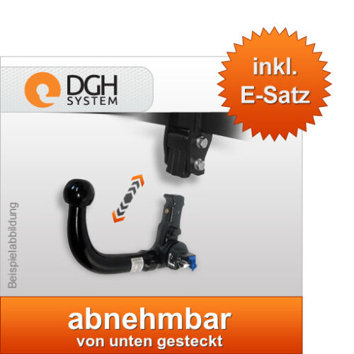Für Skoda Roomster 5J 06-10 Anhängekupplung abnehmbar 7p E-satz VERTIKAL