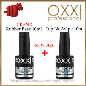 NEW-GRAND-Rubber-Base-10ml-Top-No-Wipe-10ml-OXXI-Professional-Gel-LED-UV