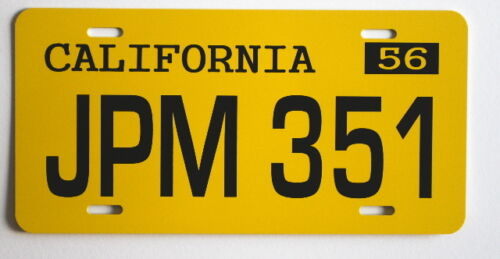 AMERICAN GRAFFITI 58 IMPALA JPM 351 LICENSE PLATE RON HOWARD CINDY WILLIAMS 1958